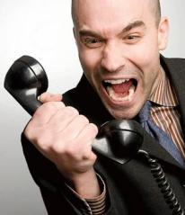 Hopefully you won't look like this guy when you're on the phone with the VA or your college financial aid office.